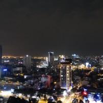 Het uitzicht op Saigon by night